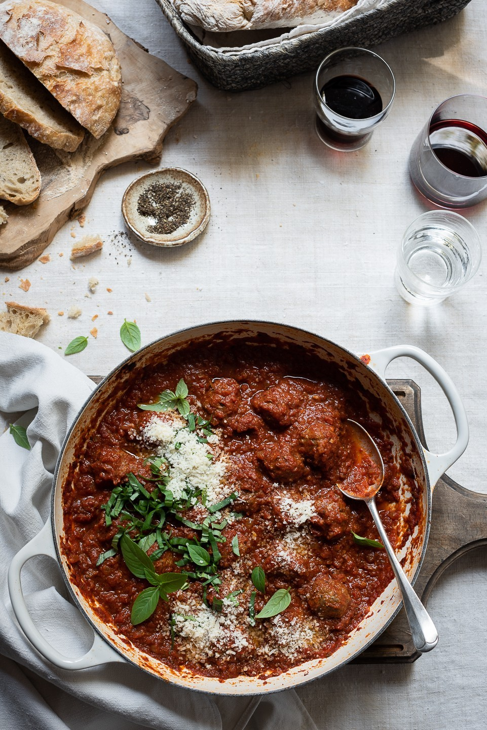 Parmesan meatballs with Sundried tomato sauce | Bibby's Kitchen