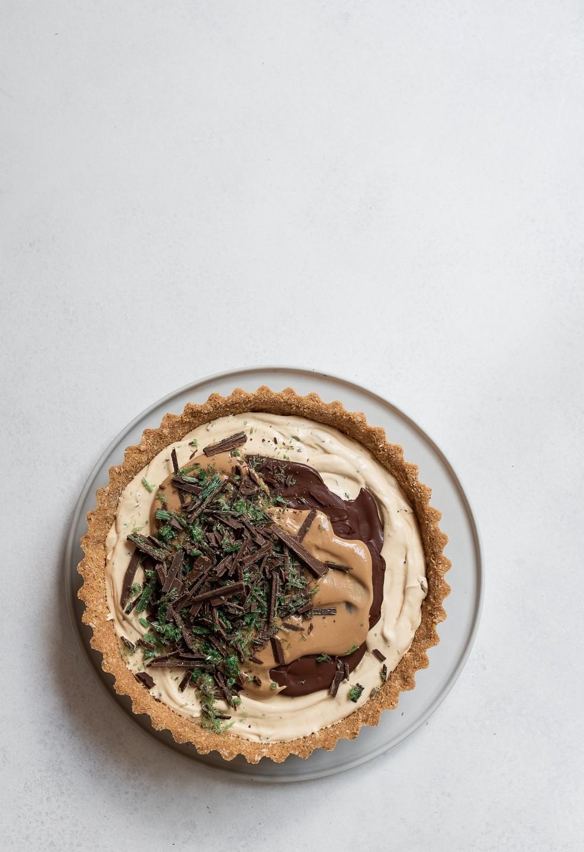 Frozen Peppermint crisp pudding pie