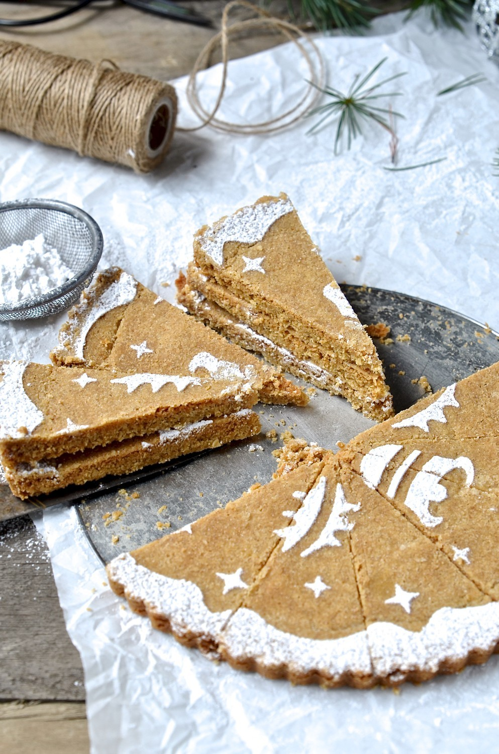 Ginger and oat shortbread | Bibbys Kitchen holiday baking