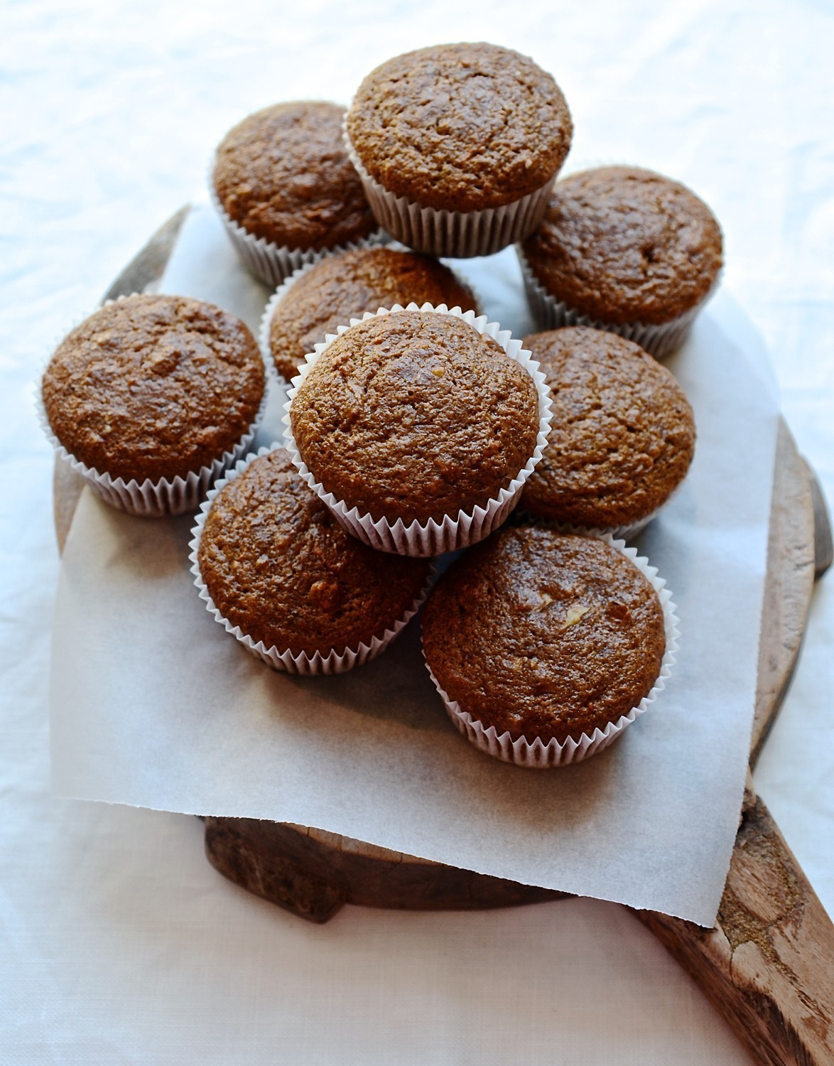 Carrot and apple bran muffins