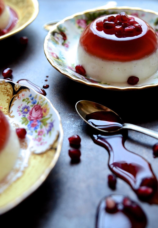 Pomegranate jelly and yoghurt pannacotta | Bibbyskitchen recipes