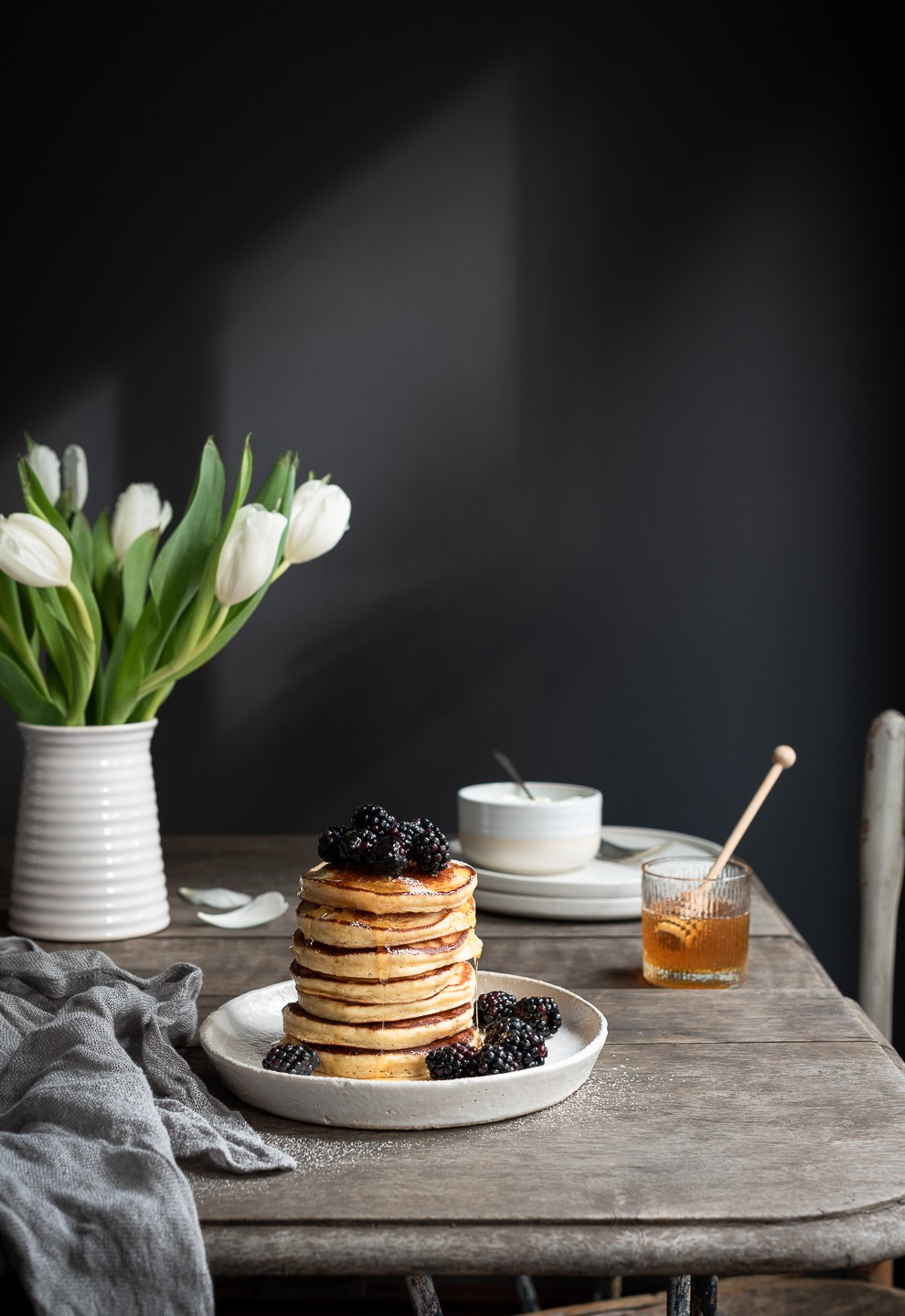 The fluffiest Ricotta pancakes