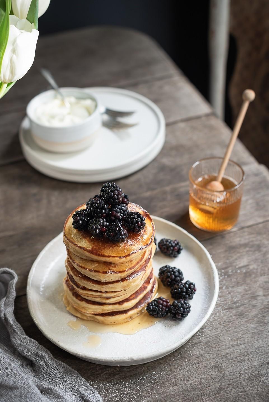 The Fluffiest Ricotta Pancakes | Bibbyskitchen recipes