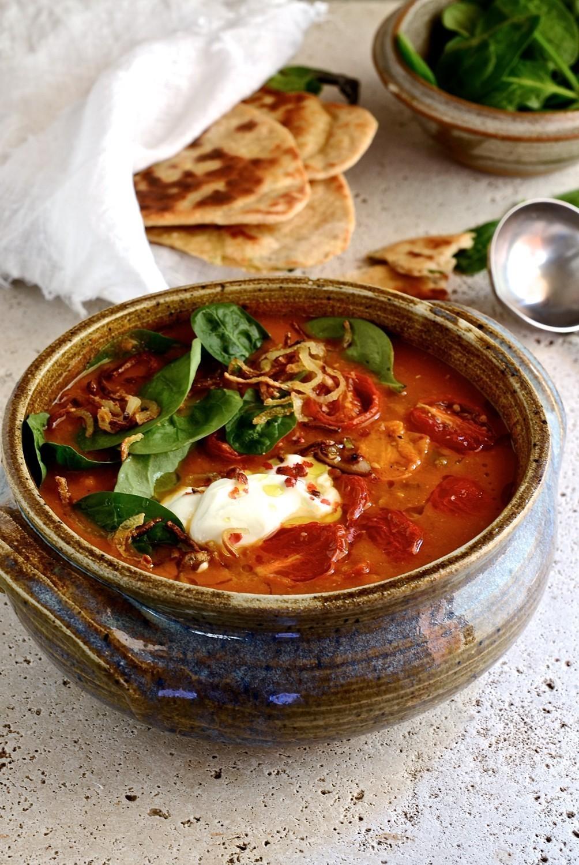 Spiced lentil and vegetable soup