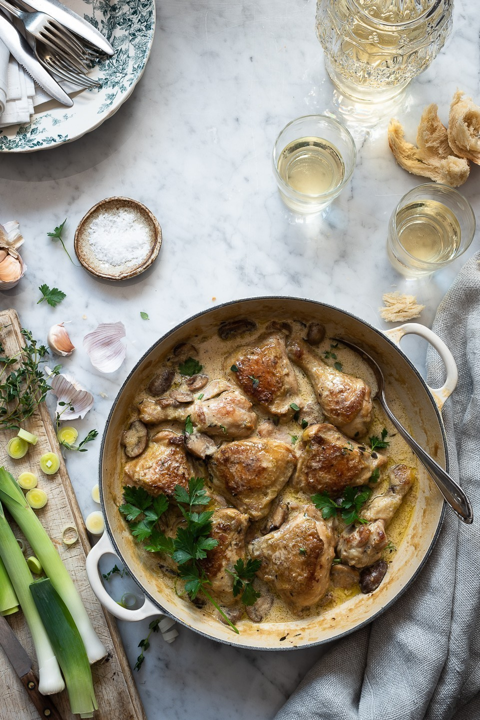 Chicken and leek casserole