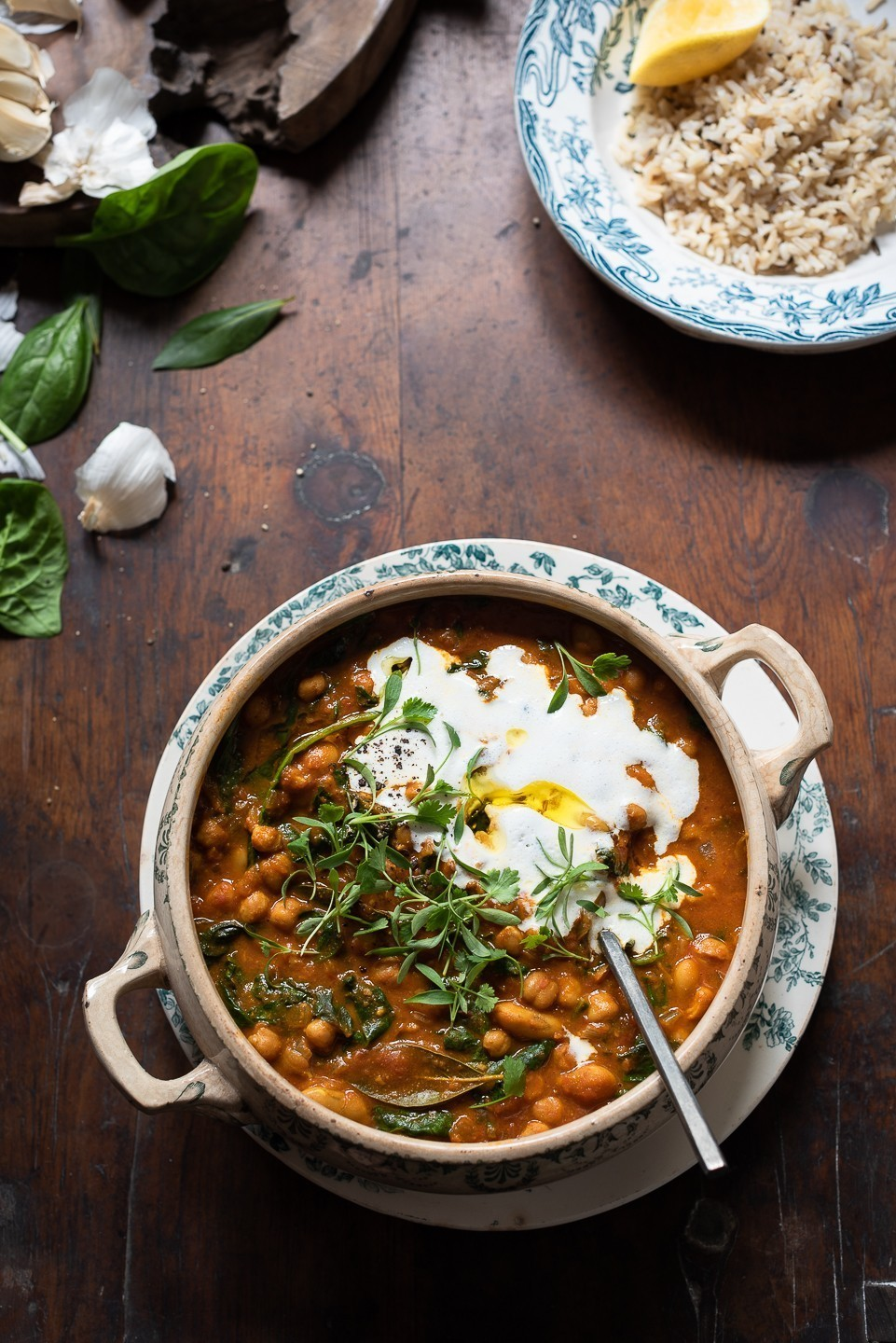 Ginger and Turmeric Chickpea Stew | Bibbyskitchen recipes