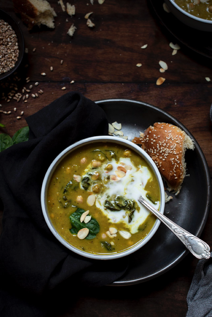 Tunisian chickpea soup