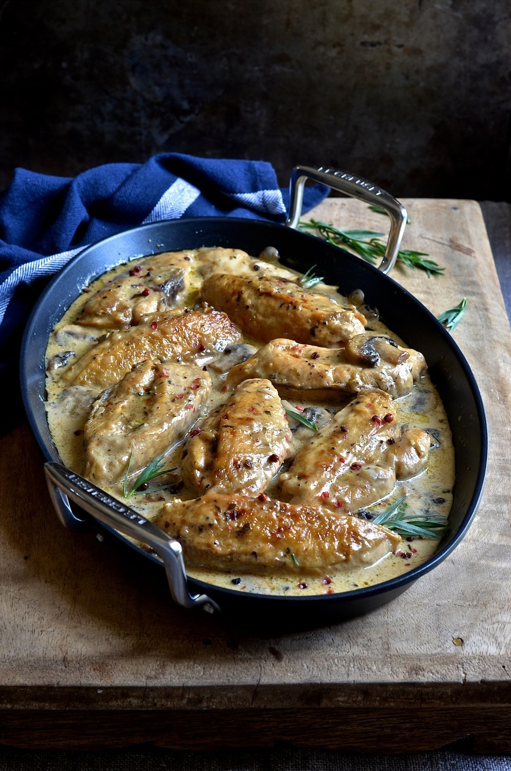 Tarragon cream chicken