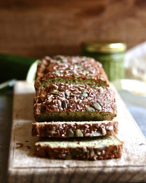 Gluten free zucchini seed bread