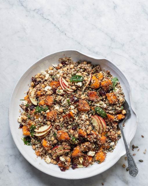Chickpea and Quinoa Butternut salad