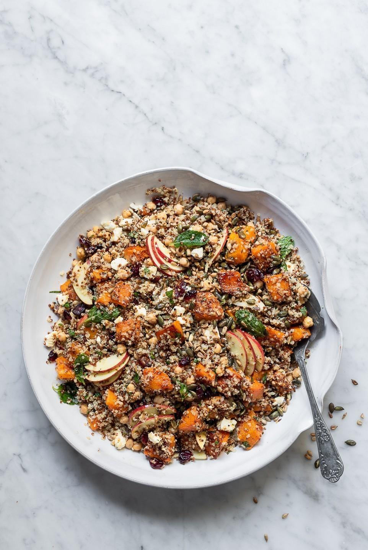 Chickpea and Quinoa Butternut salad