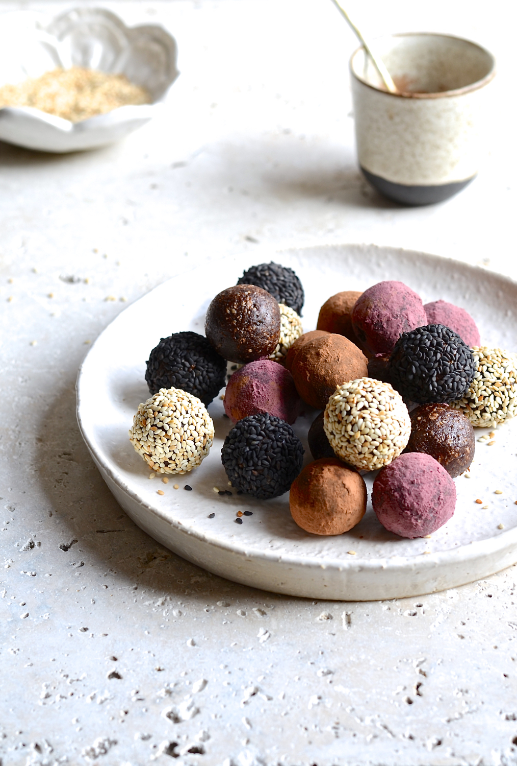 Cashew and Tahini bliss balls