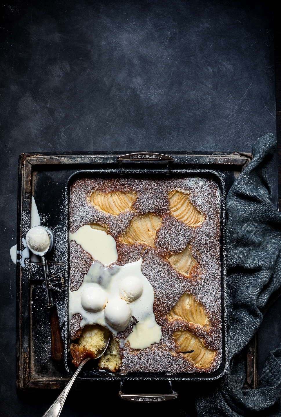 Pear and Treacle Sponge pudding