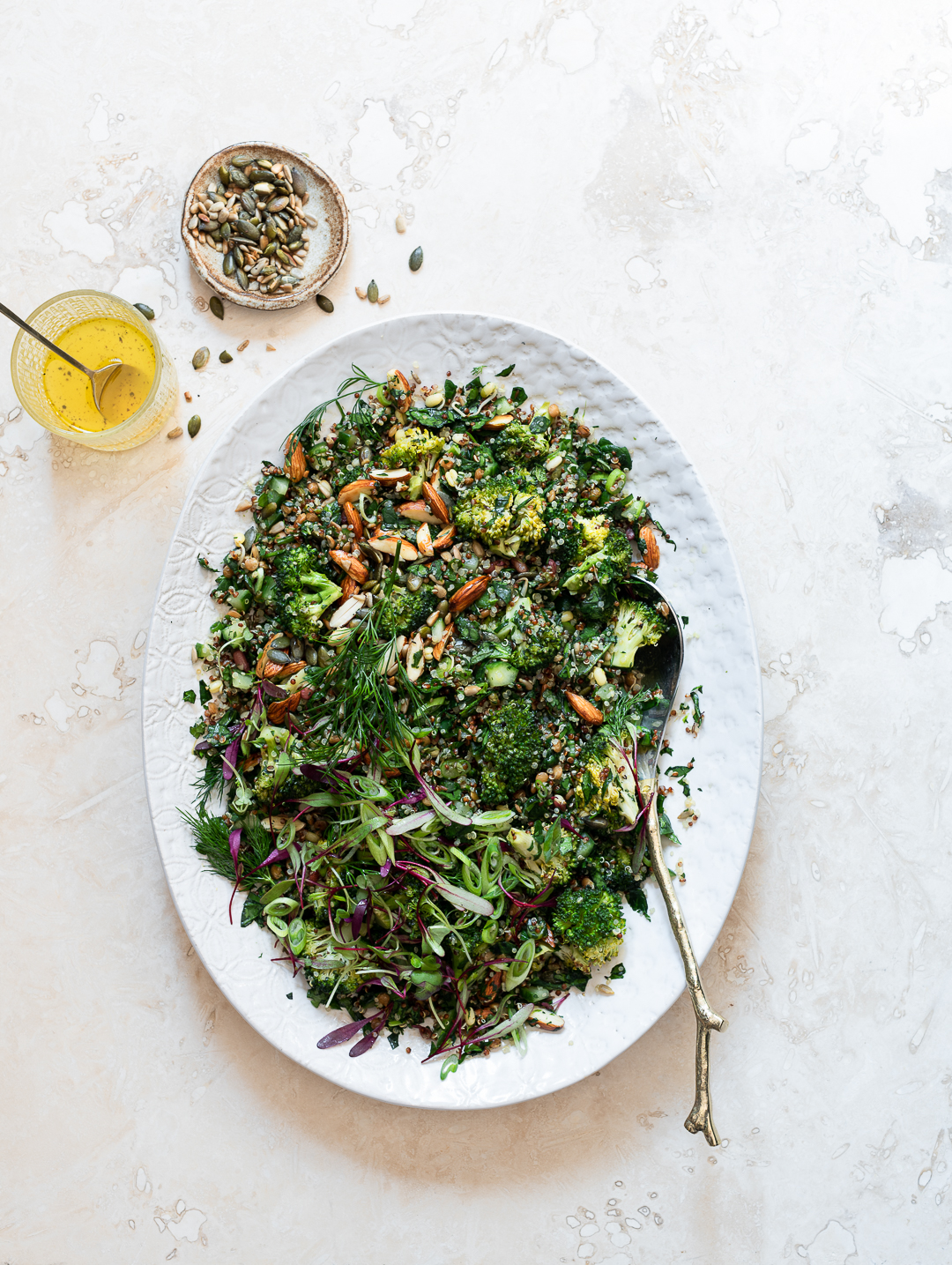 Quinoa and Roast Broccoli Tabbouleh