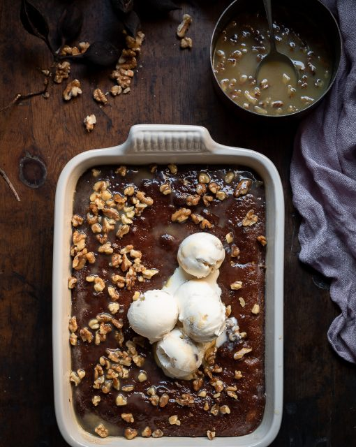 Sticky Fig and Walnut Pudding