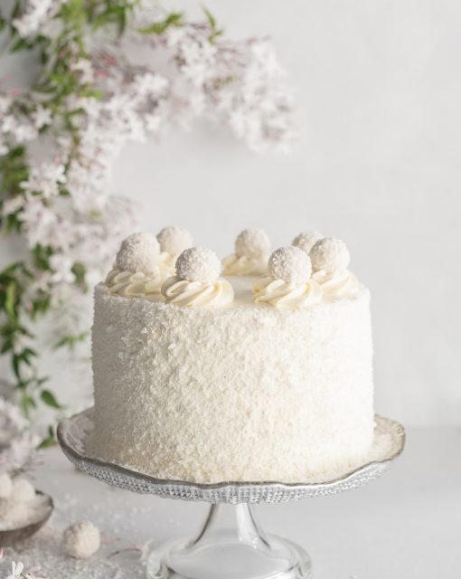 Red Velvet Coconut Cake