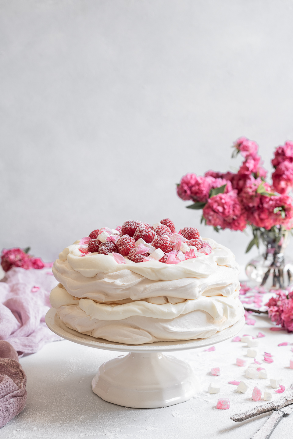 Persian Pavlova with Yoghurt Cream