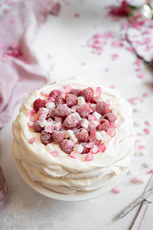 Persian Pavlova with Yoghurt Cream