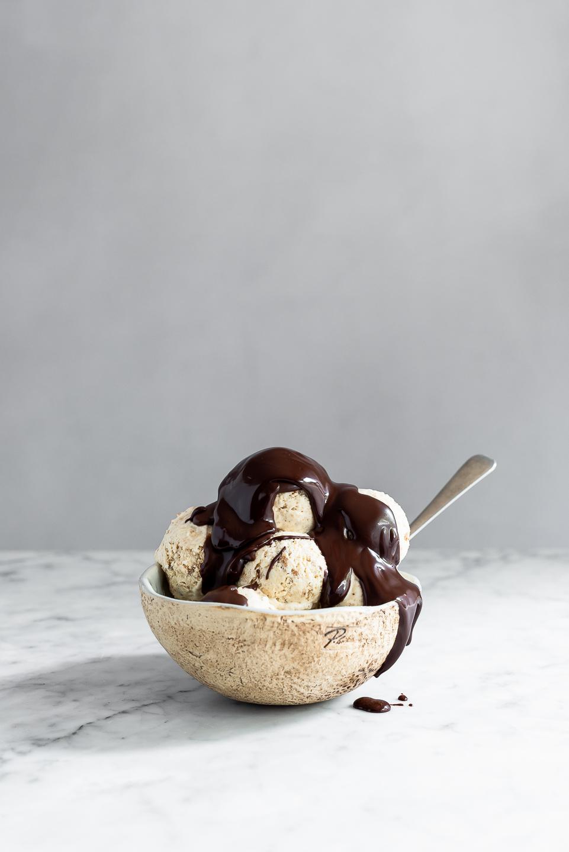 Condensed milk coffee ice cream