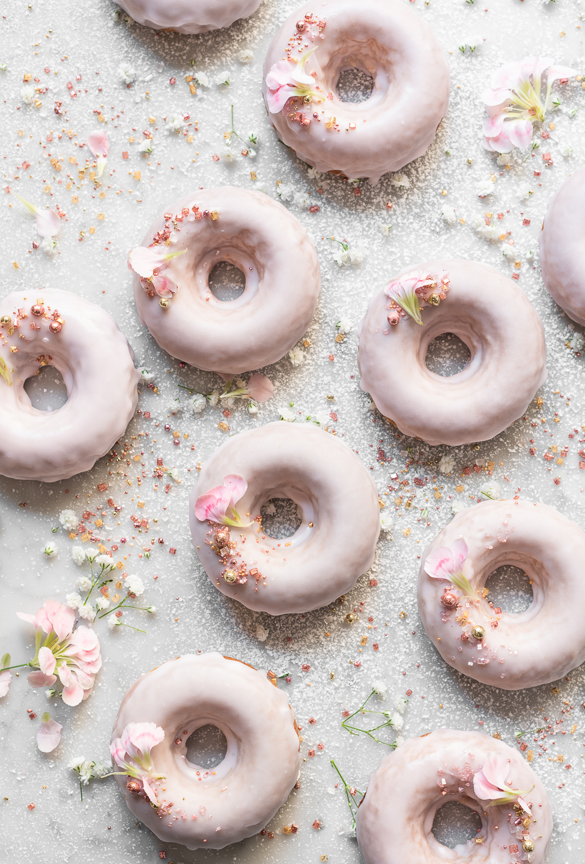 Jammy Strawberry Yoghurt Donuts