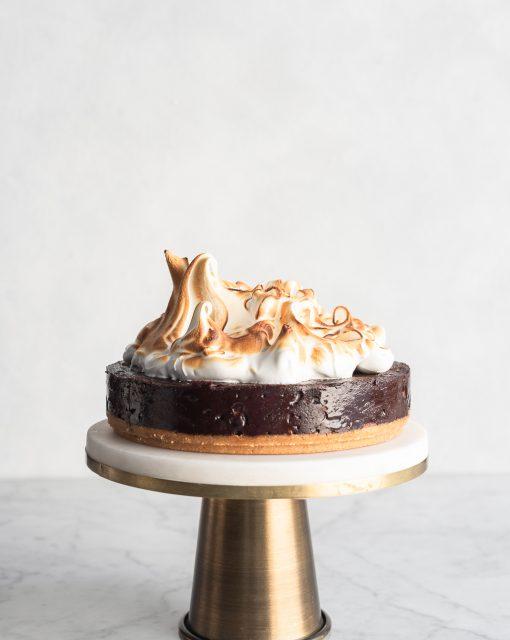 Pretzel Brownie S'mores Cake