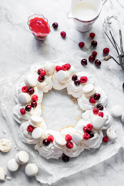 Macaron Pavlova Wreathe