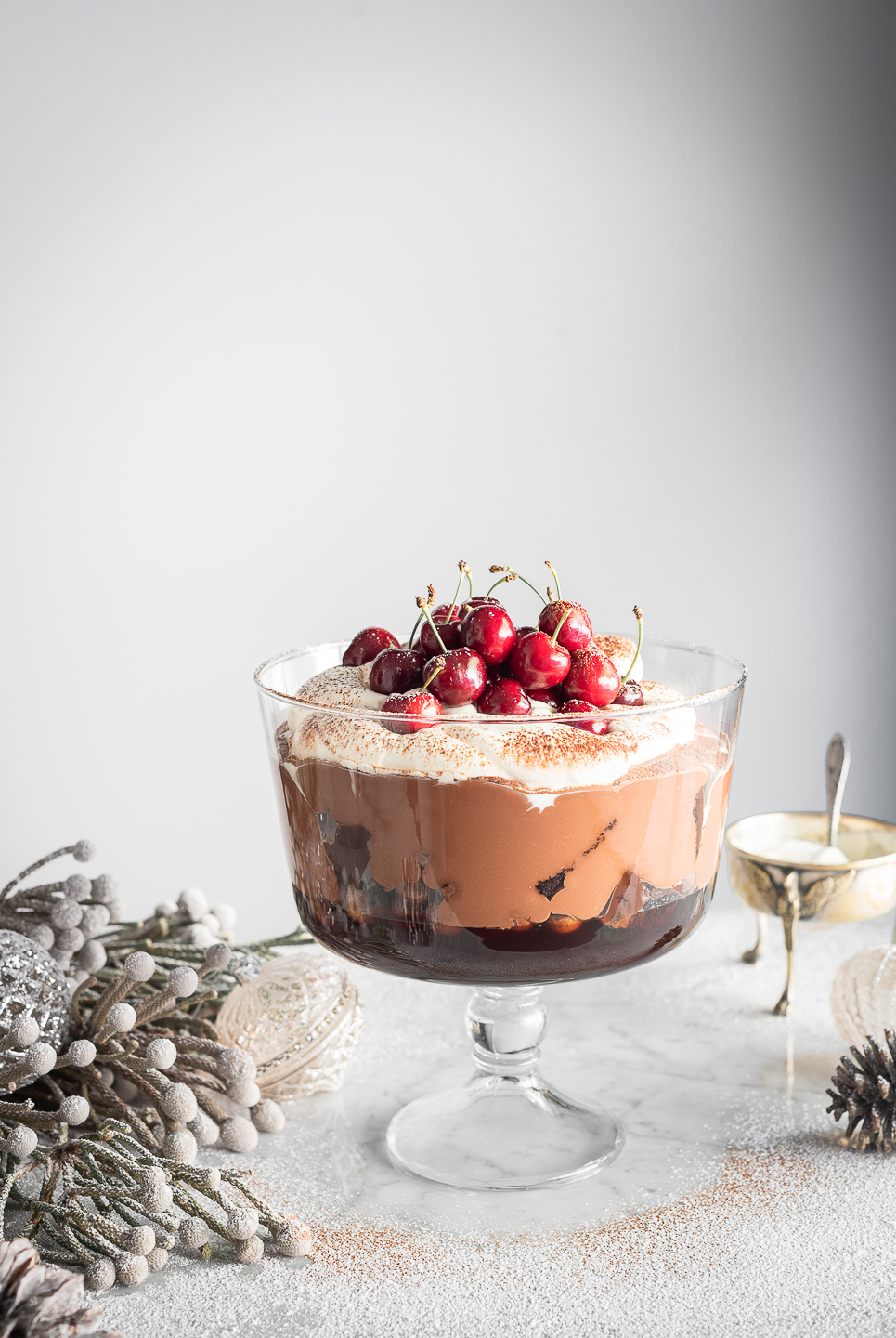Black Forest Chocolate Mousse Trifle