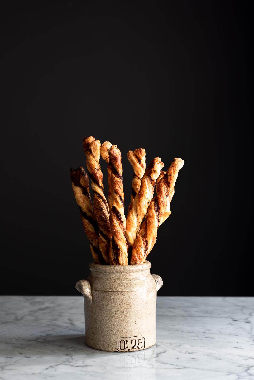 Harissa Tapenade Cheese Straws
