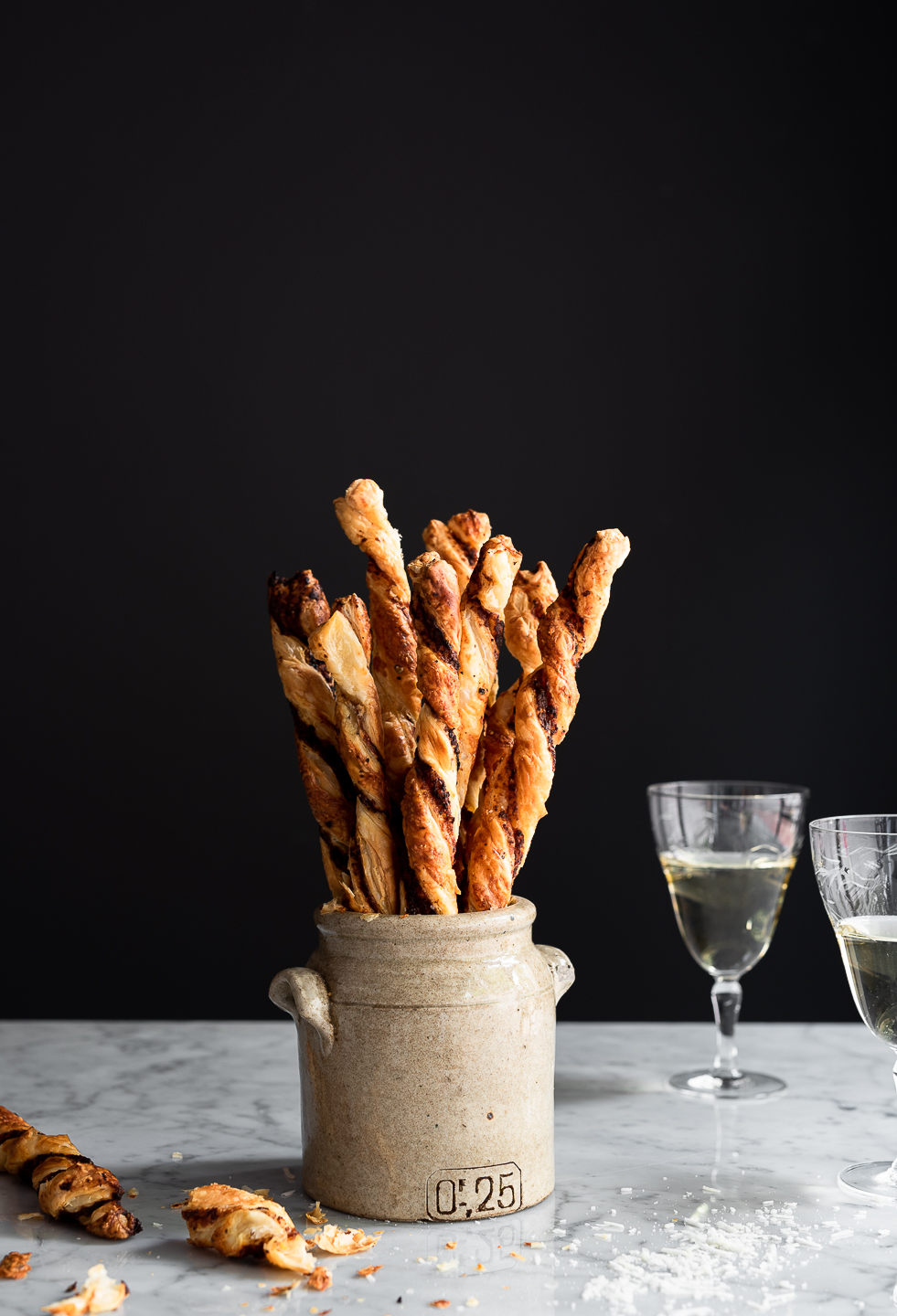 Harissa Tapenade Cheese Straws
