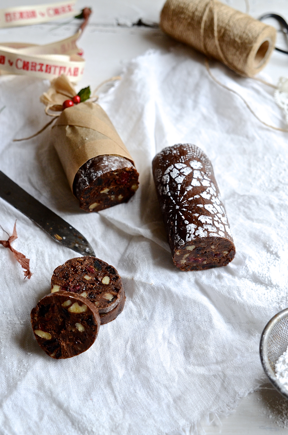 Rum and Raisin Chocolate Salami