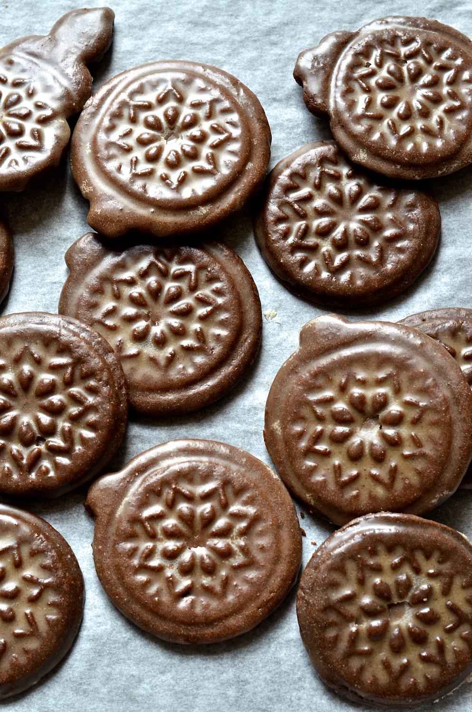Gingerbread tile cookies