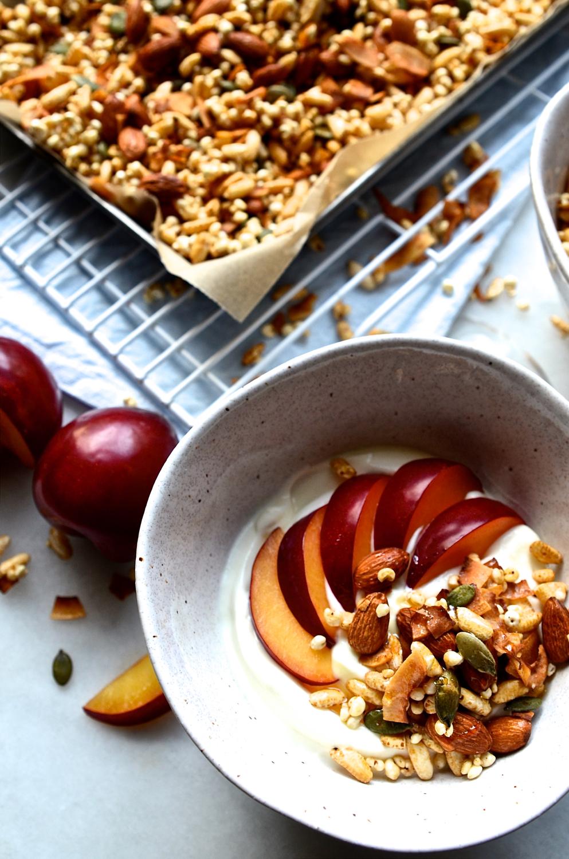 Gluten-free millet granola
