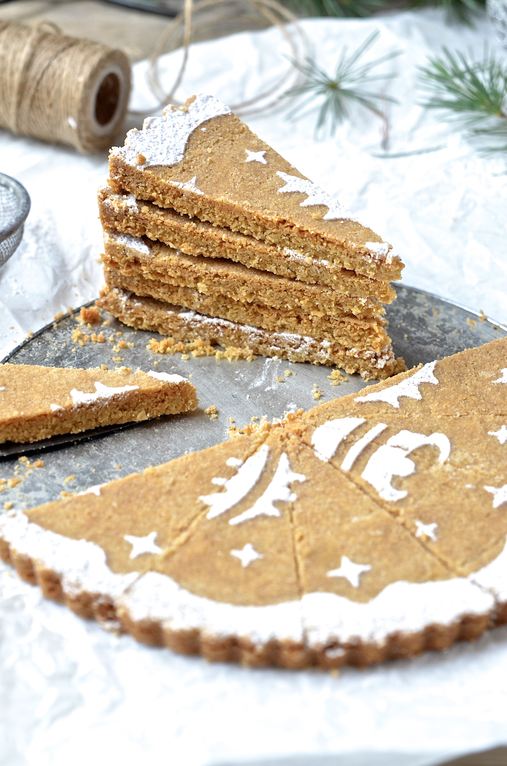 Ginger and oat shortbread