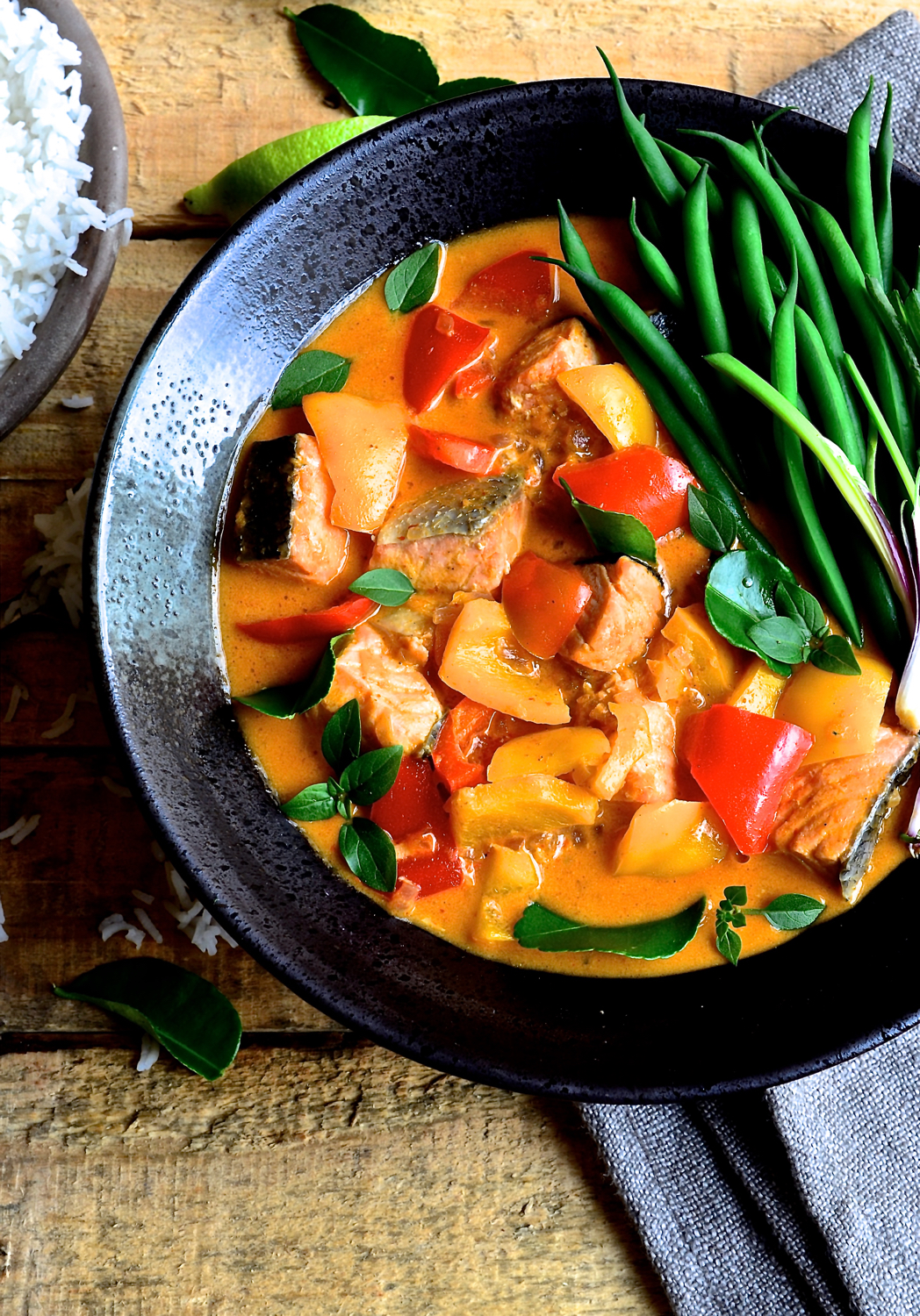 Red Thai Salmon Curry