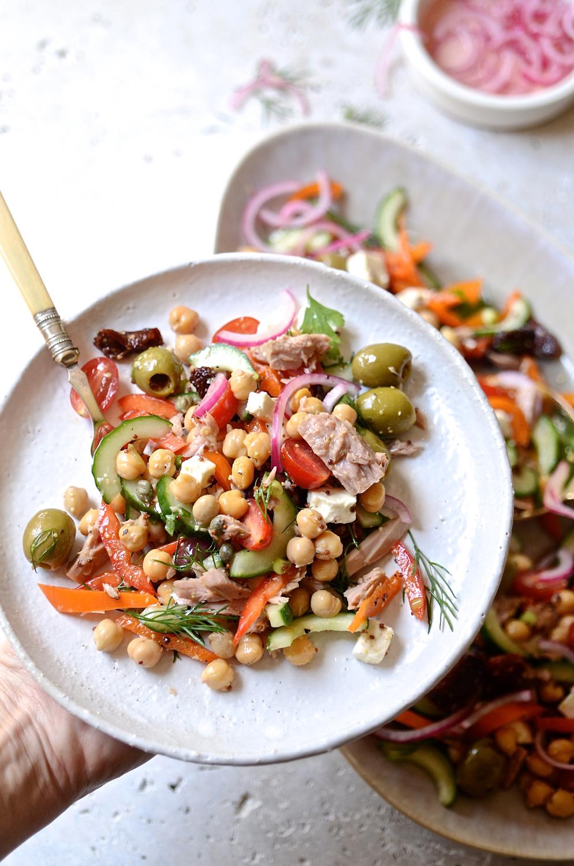 Mediterannean tuna salad