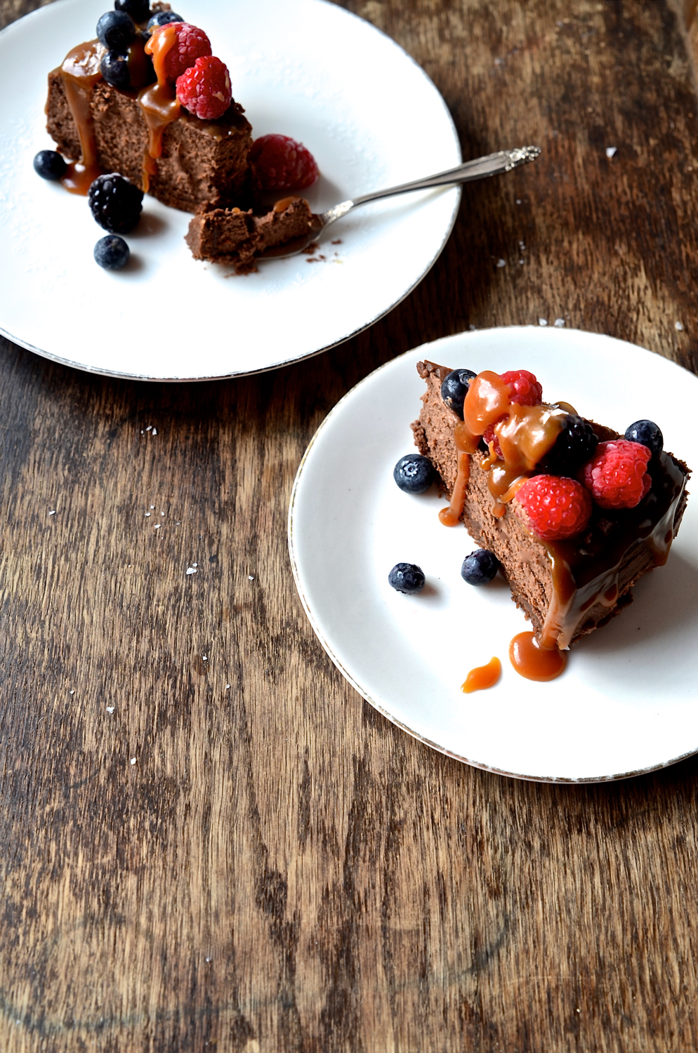 Nutella Chocolate Cheesecake with salted caramel