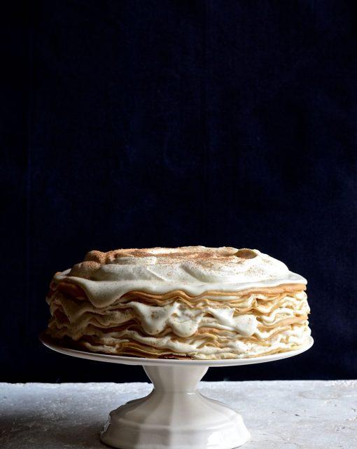 Milk tart pancake mille feuille