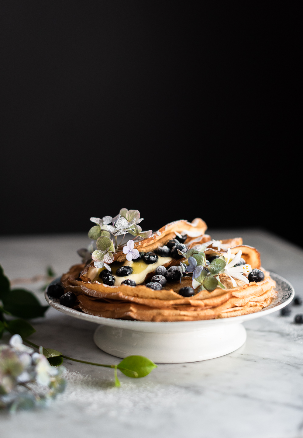 Brown butter wholemeal pancakes