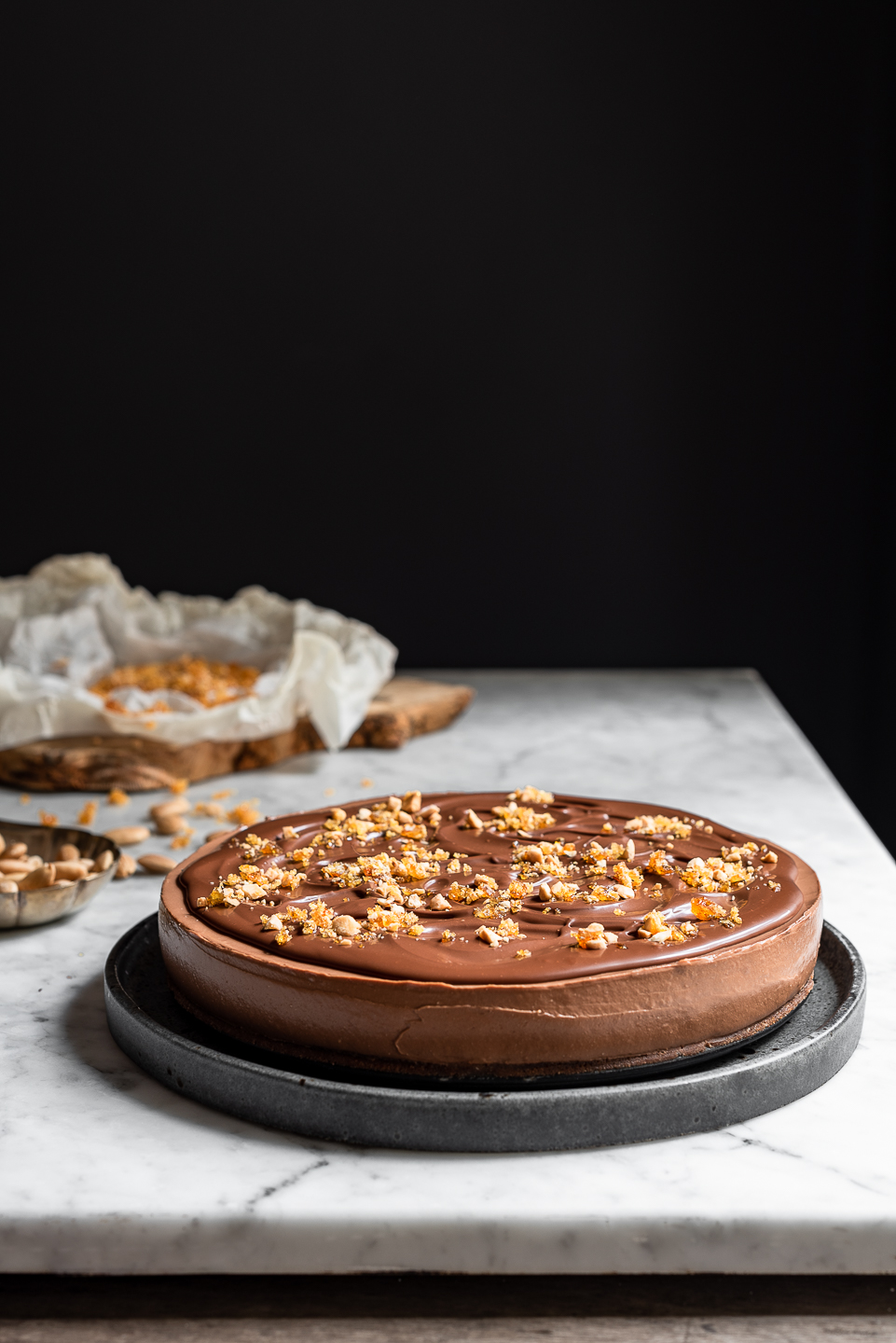 Silky No Bake Chocolate Cheesecake