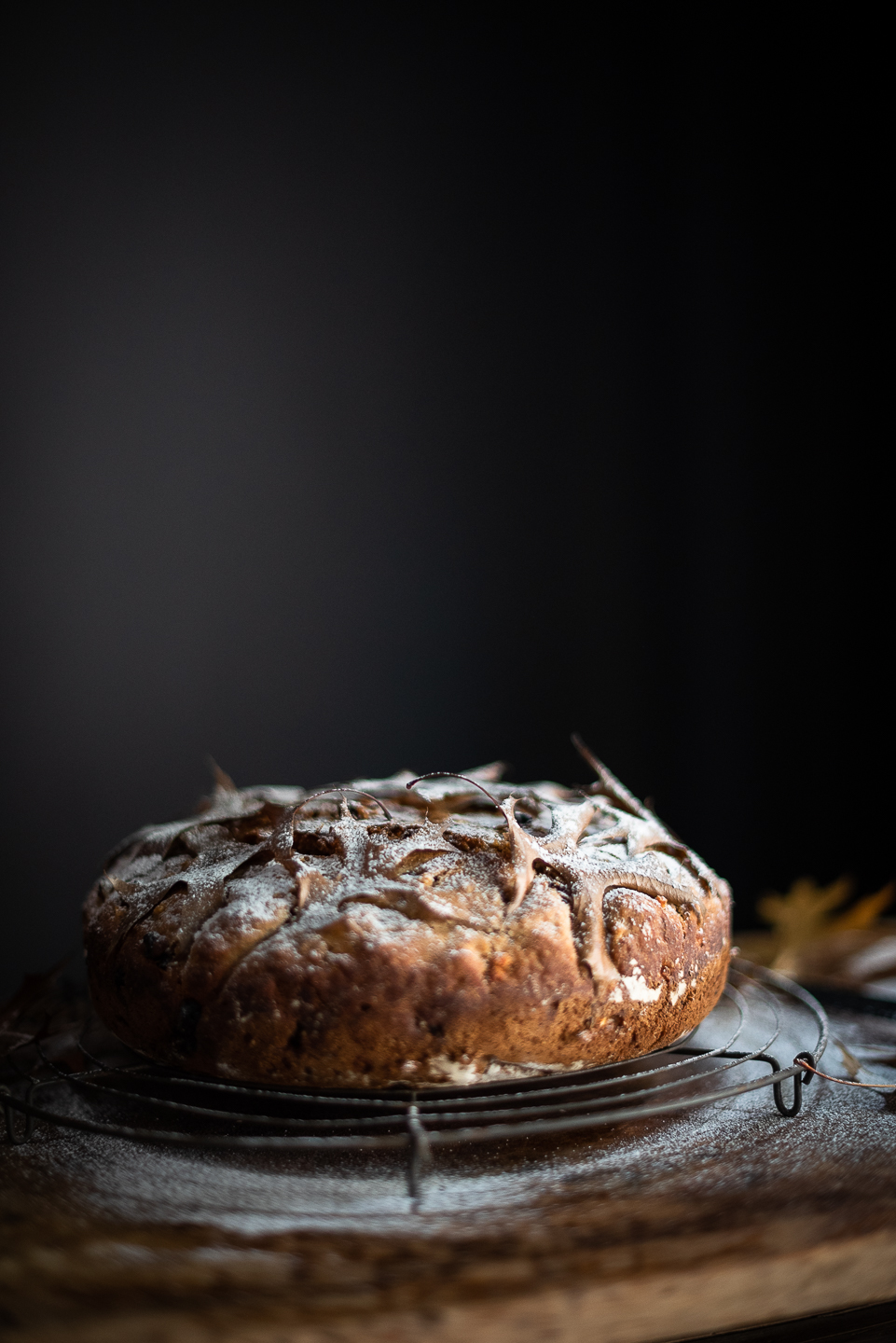 No knead Hot cross bun bread