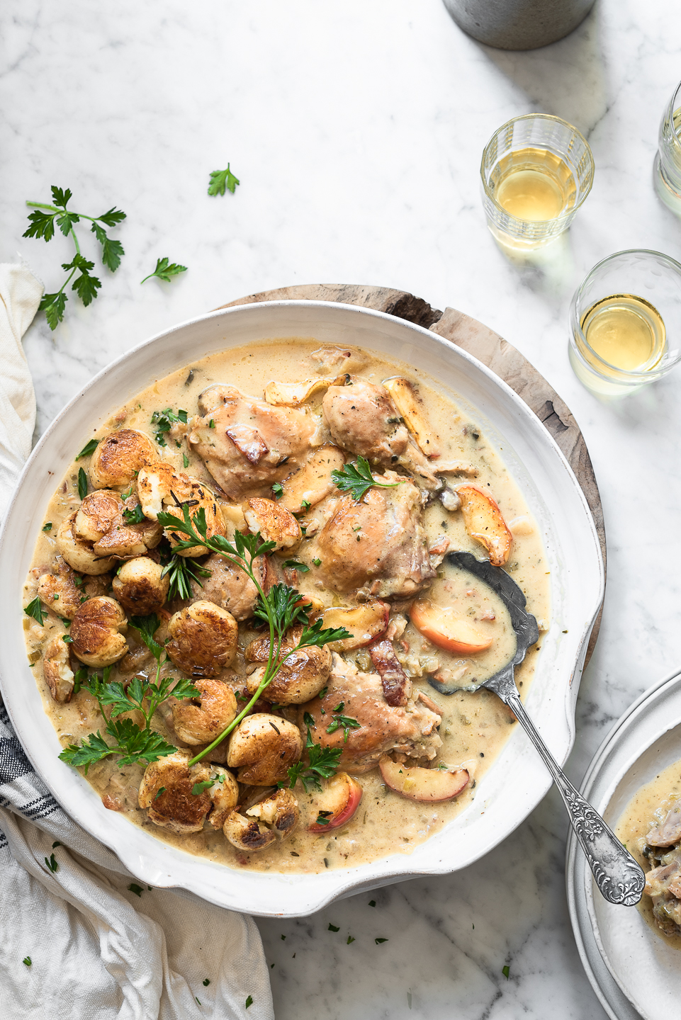 Normandy Chicken with Caramelised Apples