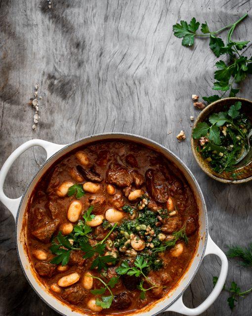 Ras el Hanout chicken casserole with white beans
